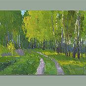 Картины и панно handmade. Livemaster - original item Birch. Oil painting. Handmade.