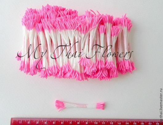 Тычинки. Таиланд. Удлиненные головки розового цвета. My-Thai.  Материалы для флористики из Таиланда.