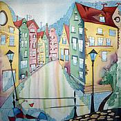 Картины и панно ручной работы. Ярмарка Мастеров - ручная работа Домики Амстердама. Handmade.