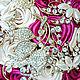 Букеты ручной работы. Брошь-букет невесты цвета фуксии. Марина Бруня. Ярмарка Мастеров. Букет для невесты, свадебные аксессуары