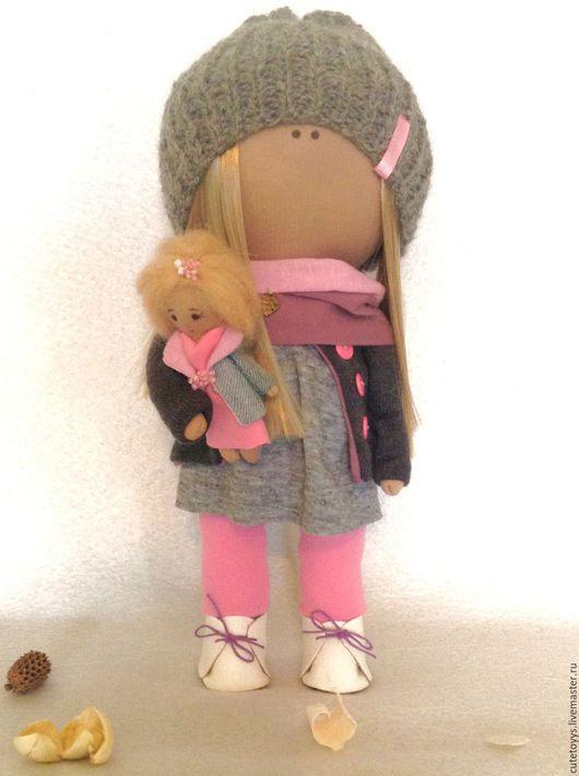 Куклы тыквоголовки ручной работы. Ярмарка Мастеров - ручная работа. Купить Интерьерная кукла Милана. Handmade. Розовый, тильда, для дочки