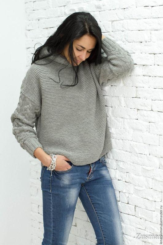 Кофты и свитера ручной работы. Ярмарка Мастеров - ручная работа. Купить Модный свитер. Шерсть100%. Копия Max Mara. Handmade.