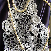 Одежда ручной работы. Ярмарка Мастеров - ручная работа Ажурный жилет-накидка.Ирландское кружево.. Handmade.