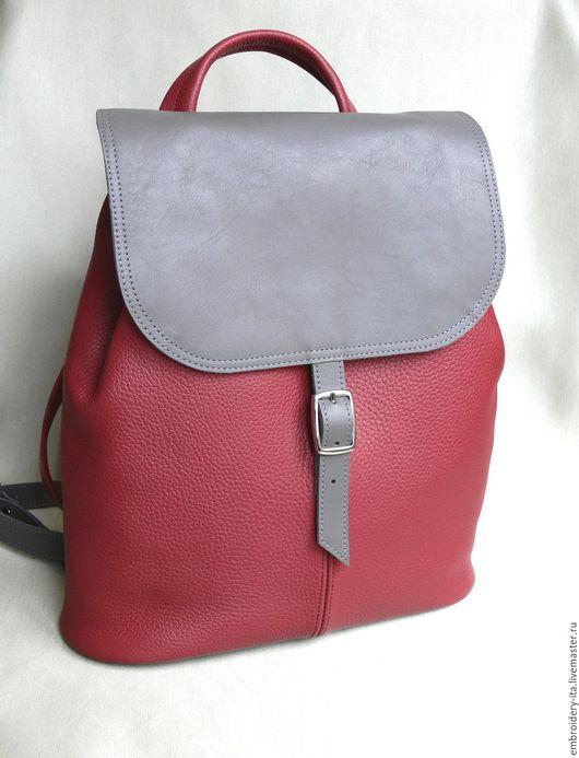 Рюкзак кожаный женский. Ручная работа.