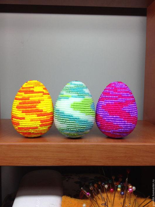 """Подарки на Пасху ручной работы. Ярмарка Мастеров - ручная работа. Купить Яйцо """"Бисерная тема"""". Handmade. Комбинированный, яйцо из бисера"""