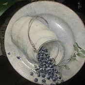 Посуда ручной работы. Ярмарка Мастеров - ручная работа Тарелка декоративная Черника. Handmade.