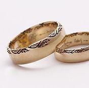 Украшения handmade. Livemaster - original item Wedding rings with leaf ornament. Handmade.