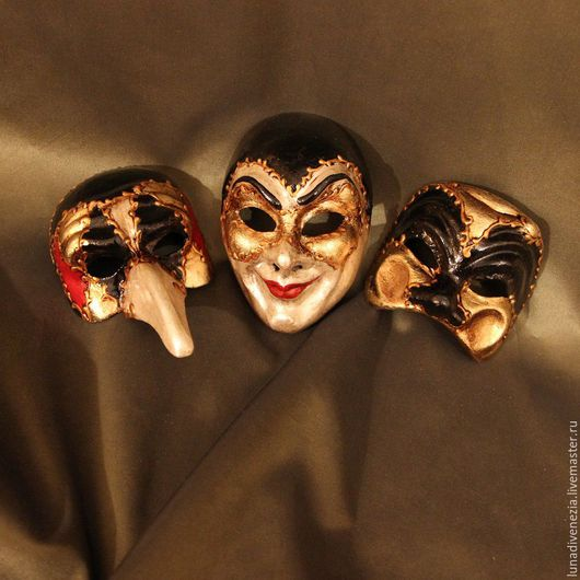 Интерьерные  маски ручной работы. Ярмарка Мастеров - ручная работа. Купить Маски венецианские папье-маше Ассорти (мини). Handmade.