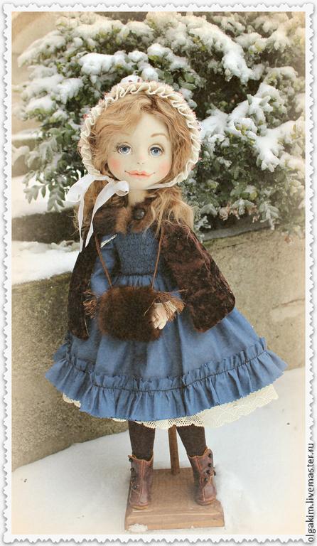 Коллекционные куклы ручной работы. Ярмарка Мастеров - ручная работа. Купить Винтажное фото. Handmade. Тёмно-синий, шёлк натуральный