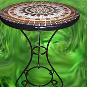 Для дома и интерьера handmade. Livemaster - original item Wrought iron table with a mosaic of