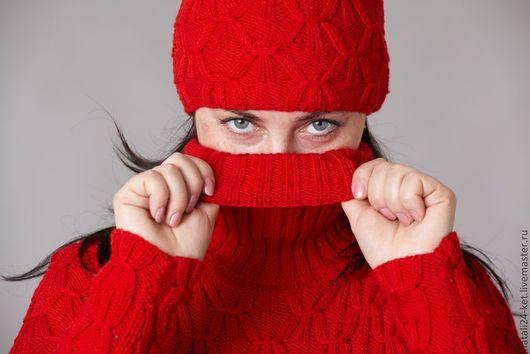 Кофты и свитера ручной работы. Ярмарка Мастеров - ручная работа. Купить красная краса. Handmade. Ярко-красный, на заказ