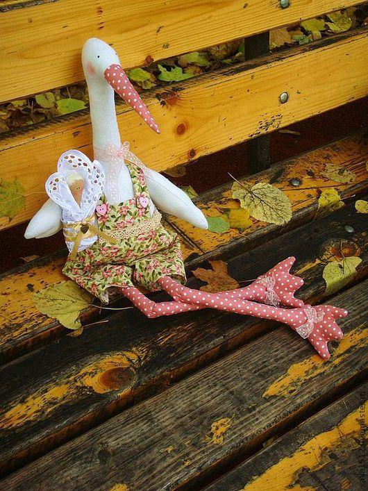 Куклы Тильды ручной работы. Ярмарка Мастеров - ручная работа. Купить Тильда аист Мартина. Handmade. Обереговая символика, для беременных