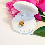 Украшения ручной работы. Ярмарка Мастеров - ручная работа Тигровый глаз, серебрянная цепочка (925). Handmade.