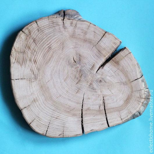 Кухня ручной работы. Ярмарка Мастеров - ручная работа. Купить Спил дерева, дуб, 40 см. Handmade. Бежевый, срез