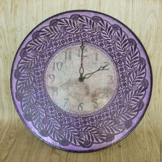 """Часы для дома ручной работы. Ярмарка Мастеров - ручная работа. Купить Часы """"Лиловое настроение"""". Handmade. Часы настенные"""