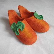 """Обувь ручной работы. Ярмарка Мастеров - ручная работа Тапочки """"Тыква"""". Handmade."""