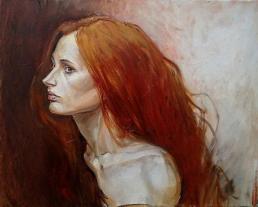 """Люди, ручной работы. Ярмарка Мастеров - ручная работа. Купить """"Она...     """". Handmade. Рыжий, портрет девочки, портрет в подарок"""