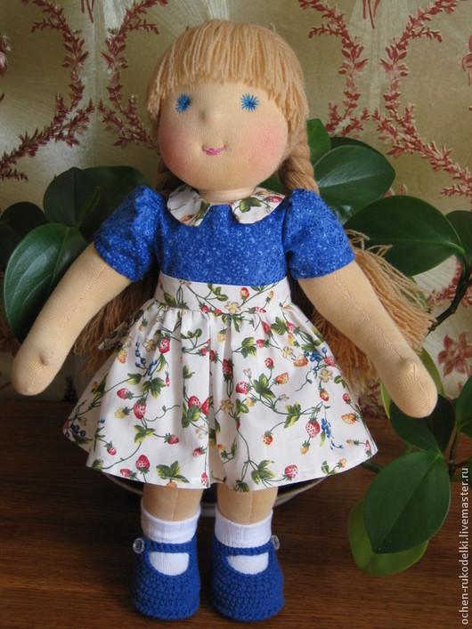 Вальдорфская игрушка ручной работы. Вальдорфская кукла Варюша, 40 см. .. Очень куклы .. Елена. Ярмарка мастеров.