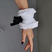 Аксессуары ручной работы. Ярмарка Мастеров - ручная работа Манжеты рюш с лентой завязкой. Разные цвета. Handmade.