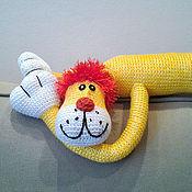 Куклы и игрушки ручной работы. Ярмарка Мастеров - ручная работа Большой вязаный лев. Handmade.
