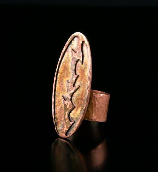 Кольца ручной работы. Ярмарка Мастеров - ручная работа. Купить Кольцо - медь, ручная работа. Handmade. Медное кольцо, состаривание
