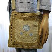 Классическая сумка ручной работы. Ярмарка Мастеров - ручная работа Летняя сумка с вышивкой. Handmade.