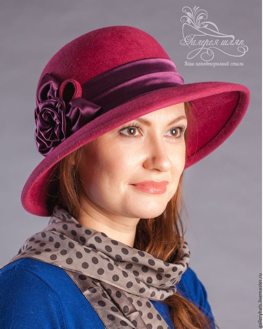 Шляпы ручной работы. Ярмарка Мастеров - ручная работа. Купить Шляпа  Элегия с большими полями  украшенная шелковой лентой. Handmade.