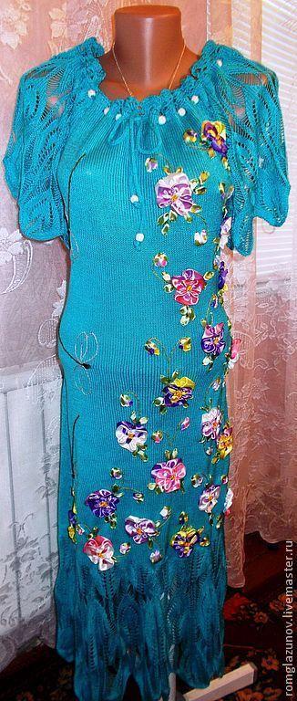 """Платья ручной работы. Ярмарка Мастеров - ручная работа. Купить Платье  вязаное """"Анютка"""". Handmade. Белый, акрил 100%"""