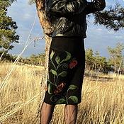 Одежда ручной работы. Ярмарка Мастеров - ручная работа юбка с бабочкой.... Handmade.
