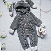 Одежда детская handmade. Livemaster - original item Knitted jumpsuit