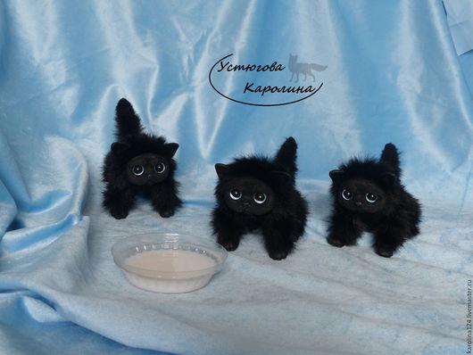 Куклы и игрушки ручной работы. Ярмарка Мастеров - ручная работа. Купить Котята черные Персидские. Handmade. Черный, персидский кот