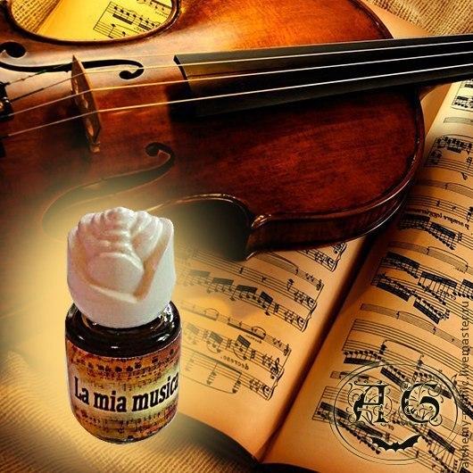 """Натуральные духи ручной работы. Ярмарка Мастеров - ручная работа. Купить """" La mia musica """" натуральные авторские духи. Handmade."""