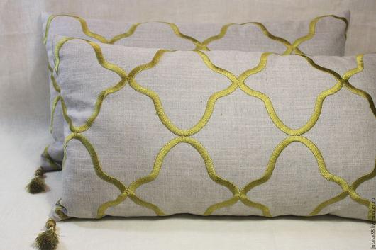 Текстиль, ковры ручной работы. Ярмарка Мастеров - ручная работа. Купить Льняные наволочки с вышитым узором. Handmade. Комбинированный