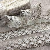 Материалы для творчества handmade. Livemaster - original item Lace linen two-tone