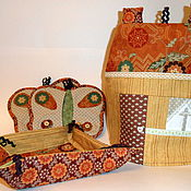 """Для дома и интерьера ручной работы. Ярмарка Мастеров - ручная работа Кухонный набор """"Уютный дом"""". Handmade."""