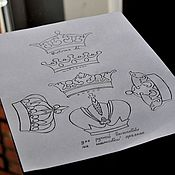 Материалы для творчества handmade. Livemaster - original item Templates for embroidery. Crown.. Handmade.