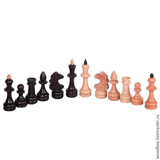 Настольные игры ручной работы. Ярмарка Мастеров - ручная работа. Купить фигуры шахматные малые массив дуба. Handmade. Фигуры