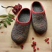 """Обувь ручной работы. Ярмарка Мастеров - ручная работа Тапки валяные домашние """"Сентябрь"""". Handmade."""