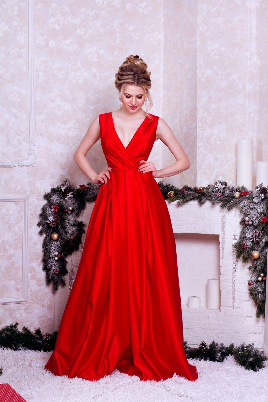 6e92eb90b4f Платья ручной работы. Ярмарка Мастеров - ручная работа. Купить Вечернее  платье Red Valentino.