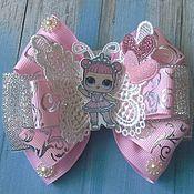 Украшения handmade. Livemaster - original item Pink bows with doll Lol. Handmade.