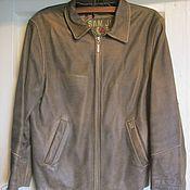 Одежда винтажная ручной работы. Ярмарка Мастеров - ручная работа Винтажная одежда: Мужская кожаная куртка, размер L. Handmade.