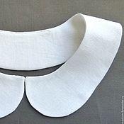 Аксессуары ручной работы. Ярмарка Мастеров - ручная работа Белый льняной накладной воротничок. Handmade.