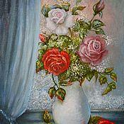 Картины и панно ручной работы. Ярмарка Мастеров - ручная работа У морозного окна.. Handmade.