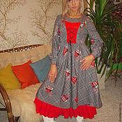 Одежда ручной работы. Ярмарка Мастеров - ручная работа Бохо платье стиль  handmade ,,Красуня,,мод №35. Handmade.
