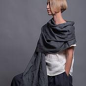 Палантины ручной работы. Ярмарка Мастеров - ручная работа Широкий шарф - палантин из тонкого льна - 8 расцветок. Handmade.