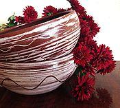 """Посуда ручной работы. Ярмарка Мастеров - ручная работа Комплект из пары мисок """" Первый снег"""". Handmade."""