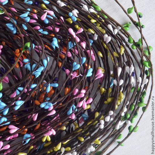 Материалы для флористики ручной работы. Ярмарка Мастеров - ручная работа. Купить Веточка с почками. Handmade. Ветка, венок из цветов, топиарий