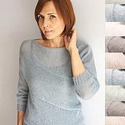Одежда ручной работы. Ярмарка Мастеров - ручная работа Пуловер Асимметрия. Handmade.