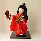 Куклы и игрушки ручной работы. Ярмарка Мастеров - ручная работа Юрико, танец с веерами - коллекционная кукла кимекоми кимэкоми. Handmade.