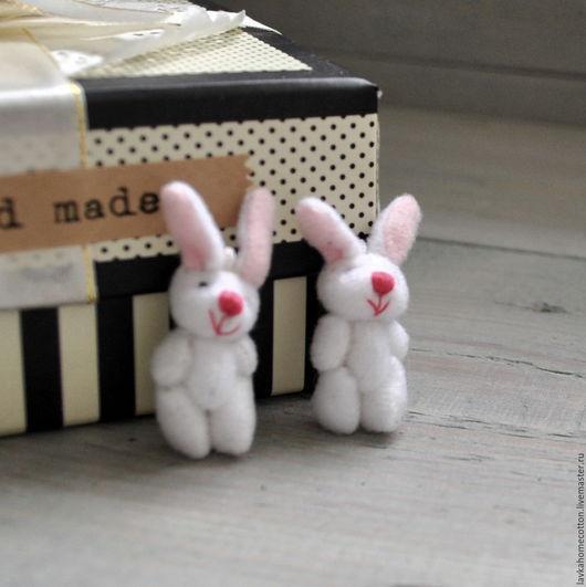 Куклы и игрушки ручной работы. Ярмарка Мастеров - ручная работа. Купить Кролик для куклы, белый, 4.5 см, 684. Handmade.